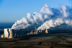 Aerial of Coal Fired Power Plant in Germany