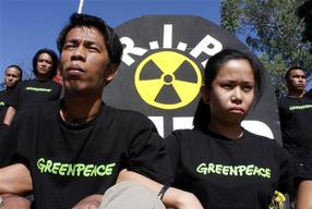 Protest against Bataan Nuclear Power Plant in the Philippines
