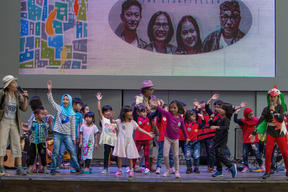 Storytellers 'Winson Family' at Earth Day Event in Jakarta