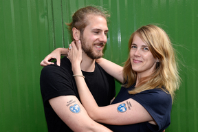 "G20 Tattoo ""Planet Earth First"" in Hamburg"