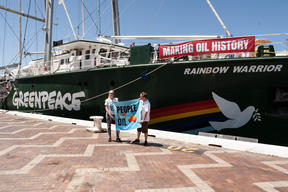 Rainbow Warrior III Open Boat in Sydney