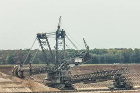 Lignite Digger Near Hambach Forest