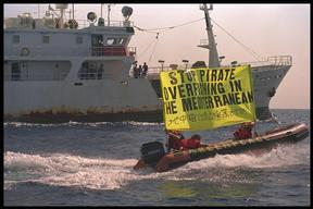Protest against the Korean-Libyan Pirate Longliner in Tunisia