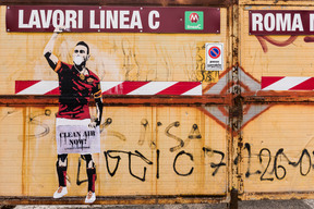 Clean Air Street Art Action in Rome