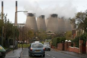 Ferrybridge Power Station in the UK