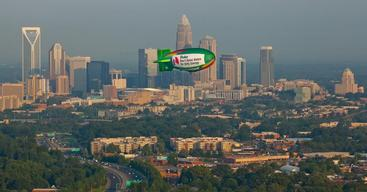 Airship at Duke Energy HQ in Charlotte