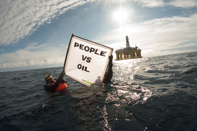 Action against Shell's Oil Rig in the Pacific Ocean