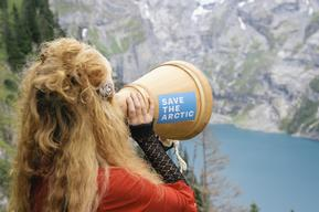 'Mountains and Rooftops' Arctic Sanctuary Action on Alp Oberbärgli