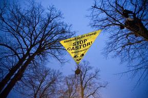 Banner against Castor Transport in Germany