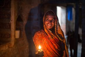 Woman in Dharnai Village in India