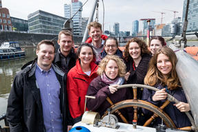Beluga Open Boat for Postcode Lottery in Duesseldorf