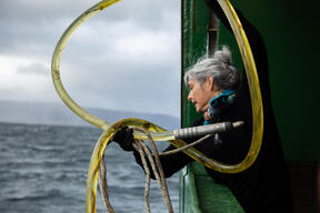 Deployment of Hydrophone from Arctic Sunrise in Norway