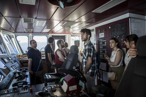 Rainbow Warrior United for Climate Tour Open Boat in Palermo