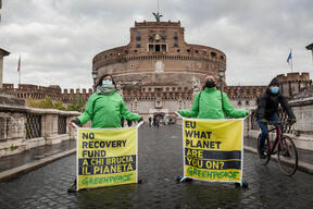 People and Planet before Profit - Action in Rome