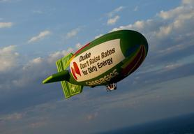 Airship Over Marshall Coal Plant in NC