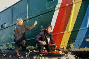 Painting the Rainbow Warrior