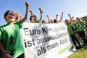 Youth Group Protests Against Govt Climate Policy in Trave River, Germany
