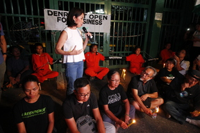 Candlelight Activity at the DENR Office in Quezon City