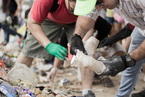 Clean-up and Brand Audit Activity at Miramar Beach in Mexico