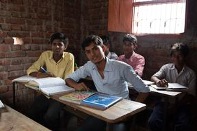 Students in Dharnai Village in India