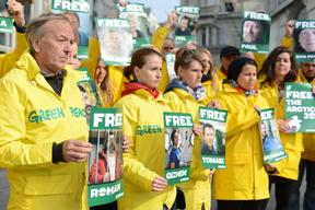 'Free the Arctic 30' Protest at Neft Trading in Vienna