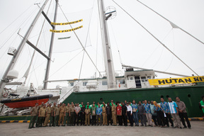 Rainbow Warrior in Manokwari, West Papua