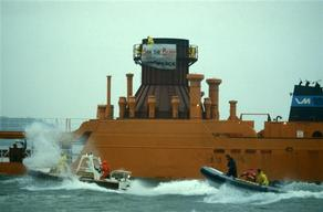 Action against Incinerator Vesta in North Sea