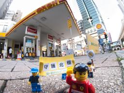 'Save the Arctic' LEGO Scene in Hong Kong