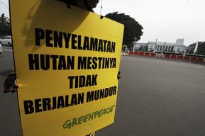 Forest Protest at Presidential Palace in Jakarta