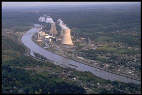 Action at Huy Nuclear Power Plant Tihange in Belgium