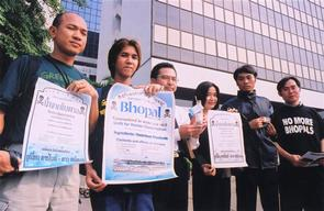 Toxics Action at Dow Office in Bangkok