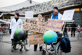Coal Protest at Siemens Shareholders Meeting in Munich