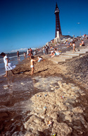 Blackpool Beach in the UK 1990