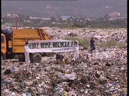 Banners Action at a Cebu Landfill