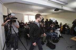 'Arctic 30' Press Conference with Marco Weber in Switzerland