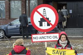 Arctic Council Meeting Demonstration in Sweden