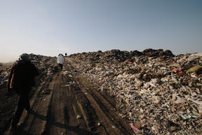 Plastic in a Landfill in China