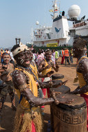 Welcome Ceremony in Port of Boma, DRC