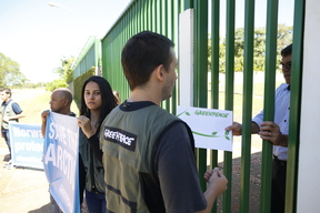 Arctic Protection Action at Norwegian Embassy in Brazil