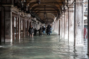 High Tide and Sea level Rise in Venice