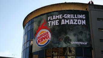 Burger King Flame Grilling the Amazon Action in London - News Access