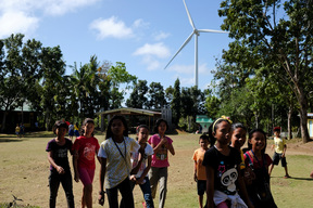 Children at Wind Farm in Guimaras, Philippines