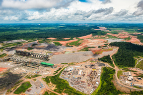 Aerial View of Belo Monte Dam