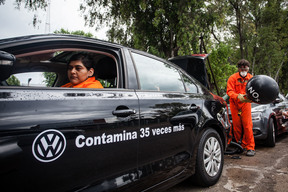 CO2 Protest at VW Factory in Argentina