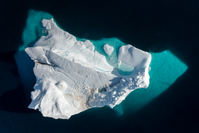 Aerial View of Iceberg in Greenland