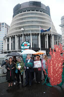 Bottom Trawling Ban Petition Delivery in Wellington