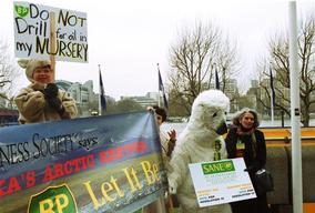 Action against Northstar Oil Project at BP Meeting in London