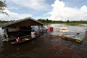 Floods in Cacao Pereira in the Amazon