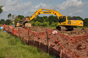 Atchafalaya Basin Pipeline Construction