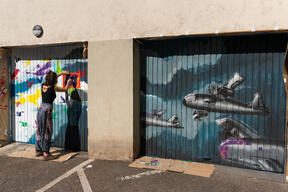 Street Art Project for Peace in Freiburg